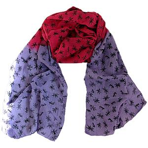 Ant Scarf – Lilac/Cerise