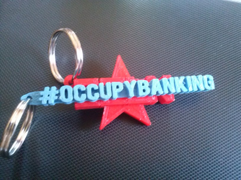 3 x Occupy Banking Keyring