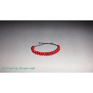 macrame bracelet with crystal beads